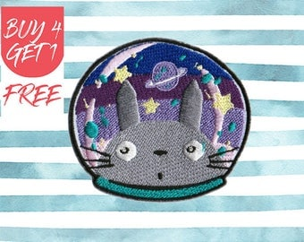 Totoro Patch Space Patches Iron On Patch Embroidered Patch Sew On Patch Patches For Jeans