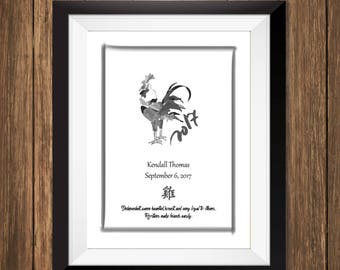 Custom Chinese Zodiac Print - Year of the Rooster