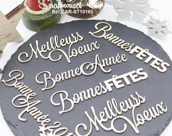 Embellishments words to wish the wishes for scrapbooking, home decor, creative card making