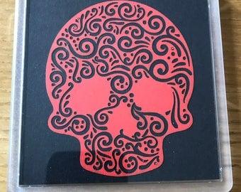 Candy Skull Coasters