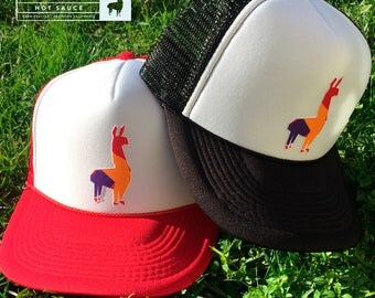PACHA Hot Sauce Red and Black 2 Limted Edition Trucker Caps