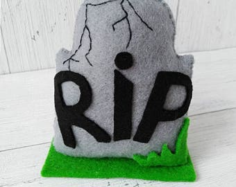 Halloween Decorations Tombstones Grave  RIP  Spooky Decor Toy Felt  Favors Kids Halloween Ornaments  Skull Halloween Party
