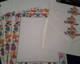 Vintage Stationery Collection ~ Hallmark Scented Floral & Butterfly Stationery Collection