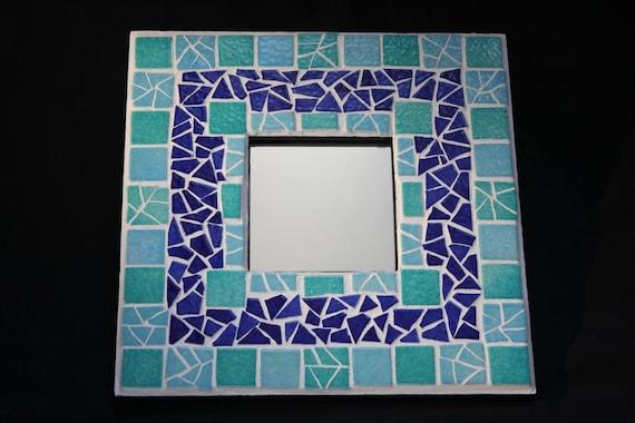 Miroir mosa que cama eu bleu nuit turquoise objet d co salle for Objet deco turquoise