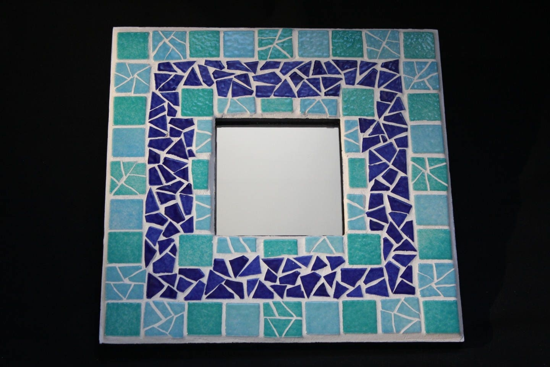 miroir mosa que cama eu bleu nuit turquoise objet d co salle. Black Bedroom Furniture Sets. Home Design Ideas