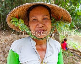 Vietnamese Grandma looking after her Grandkids, Mekong Delta, 2014