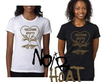 I love my melanin t-shirt/ MELANIN  roots t shirts/ mommy and me melanin love