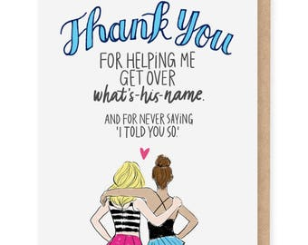 Thank You breakup card