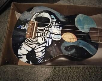 "Hand Painted Ukulele ""Satellite"""
