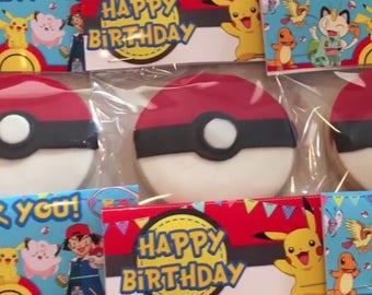 Pokemon Themed Sugar Cookies