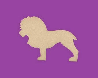 Blank MDF lion medium support