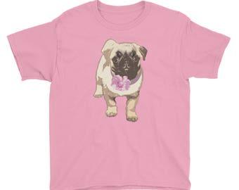 Kids T-Shirt / Cute Shirt / Pug Dog / Kids Graphic Tee / Puppy Shirt / Child Gift Shirt / Christmas Gift / Sweet Pug Shirt / Pug Love