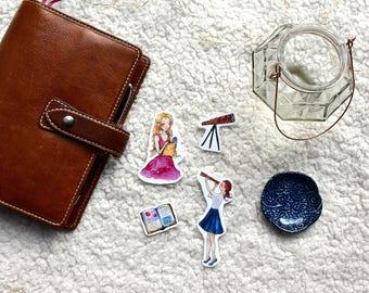 Star Gazing Girl | Planner Sticker | Star Cinnamon