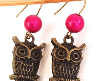 OWL EARRINGS HOT