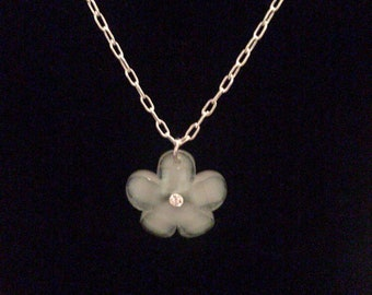 Silver Plated Plumeria Necklace