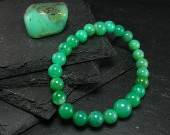 Chrysoprase Genuine Bracelet ~ 7 Inches  ~ 8mm Round Beads