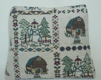 Jacquard pattern cottage and mountain Kit