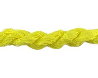 22 shamballa neon yellow braided nylon thread