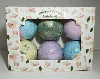 Set of 6 Organic Bath BomBs