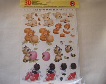 decoration and embellishment with these pre-cut small animal models in 3 D