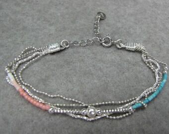 Bracelet multi strand Silver 925