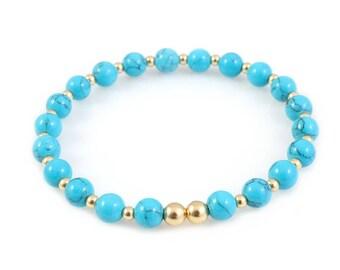 Turquoise Women Bracelet 14k Gold Filled