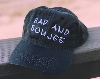Bad And Boujee Embroidered Dad Hat Baseball Hat Pinterest Tumblr Adjustable One Size Fits All