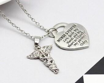 Nurse's prayer necklace