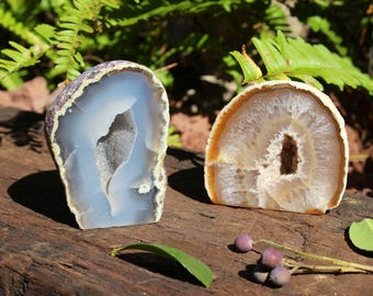 Brown/ blue Geode Agate
