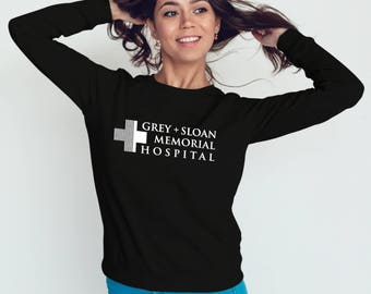 Grey + Sloan Memorial Hospital Sweatshirt Greys Anatomy #J