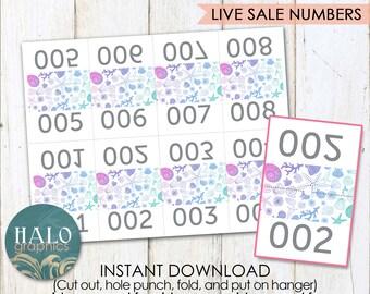 Live Sale Numbers - SHELLS Printable, #1-200