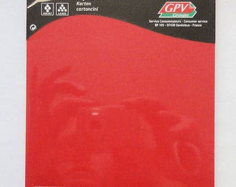 Set of 25 cards 200 g/m2 Red