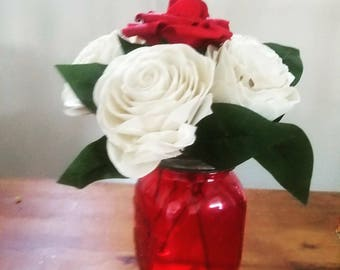 Valentines day flowers on a base- get well gift- birthday gift- birthday gift