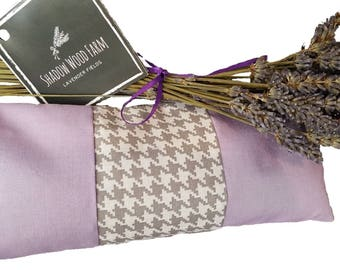 Lavender Eye Pillow- Lavender Houndstooth