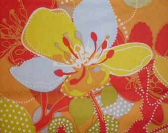 125 flower napkin