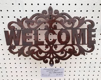 Fretwork Welcome Sign