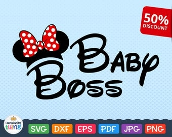 Baby Boss SVG, Little Girl Gift Svg file, Disney Wording file, Baby Svg, Cricut cutting file svg Baby Girl Clothes, Dxf SVG Files, DIY Shirt