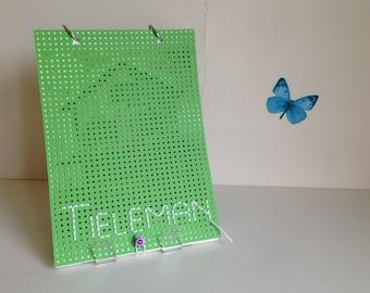 Handmade book ' Tai ' (Dutch, light green)