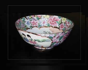 Chinese Qianlong Nian Zhi Family Rose Bowl