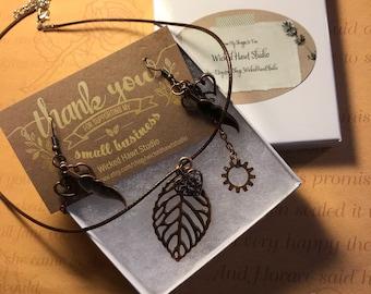 Steampunk Necklace & Earrings