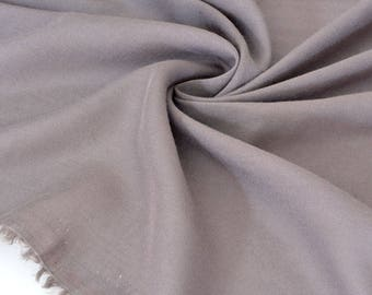 Extra silky flowing viscose fabric taupe x 50cm