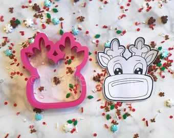Rudolph Face Cookie Cutter
