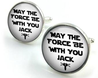 Personalised Star Wars Named Cufflinks, Star Wars Personalized cuff Links,Star Wars,Jedi Night, gift for him,gift for men,gift for boyfriend