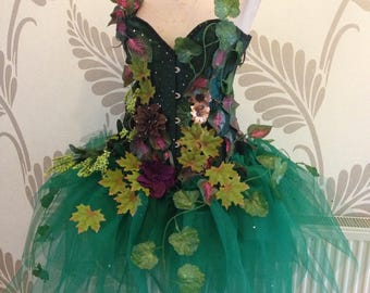 Adult Forest Fairy Corset Costume - Fairy Cosplay - Fairy Fancy Dress
