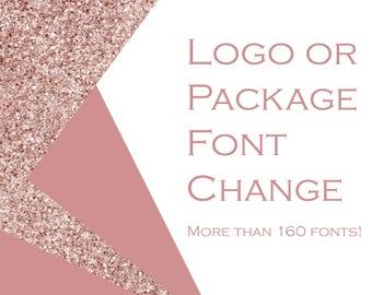 Font change for your logo / branding package - Logo Design - Custom logo - Business card - Gift card - Loyalty card