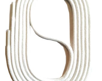 SNORS - laces - round LACES natural white, 3 lengths, diameter approx. 2-3 mm