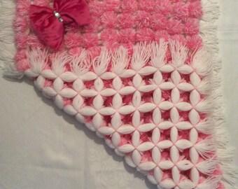 Baby pram Pom Pom blankets