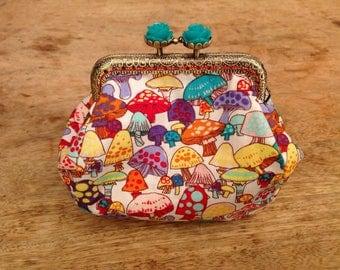 vintage mushroom purse