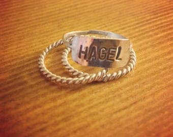 Personalized stacker rings