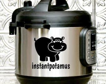 Instant Pot Decal, Instapotamus